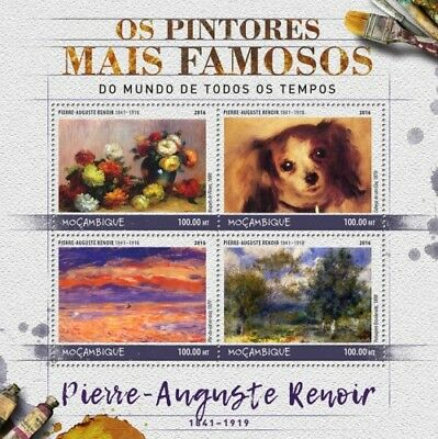 Mozambique 2016 Sheet Mnh Renoir Art Paintings Arte Pinturas Peintures 7