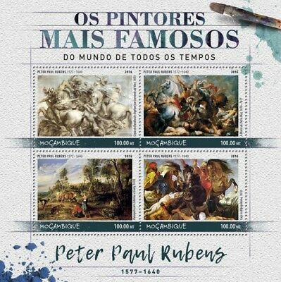 Mozambique 2016 Sheet Mnh Paul Rubens Art Paintings Arte Pinturas Peintures 7
