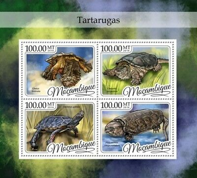 Mozambique 2016 Sheet Mnh Turtles Tortues Tartarugas Tortugas Schildkroten 5