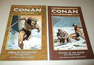 The Chronicles of Conan TPB Vol. #1 & 2  (Lot of 2)  Dark Horse, OOP