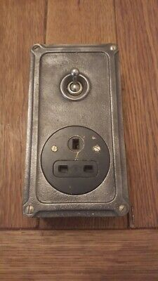 Britmac Vintage Industrial Socket Power Light Switch Salvaged Reclaimed 3 Pin UK