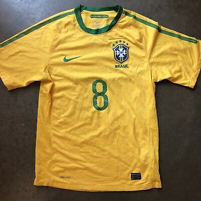 5e0fbe1b01f Mens Nike Brazil National Team Kaka #8 World Cup Olympic Yellow Home Jersey  Sz S
