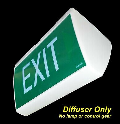 Ceiling Mount Emergency Exit Light SIGN ONLY Double Sided Optica TRDDS-PL
