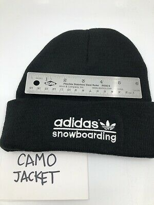 adidas SNOWBOARDING EMBROIDERED BEANIE BLACK ONE SIZE BRAND NEW ORIGINALS 025274f42f21