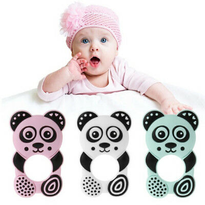 Baby Teether Bear Shape Soft Silicone Infant Teether Chew Toy DIY Pendant BS