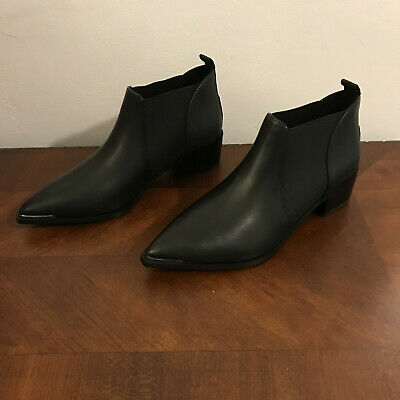 5f7ae315fe21 ACNE STUDIOS JENNY Black Leather Ankle Boots Booties Size 37 -  200.00