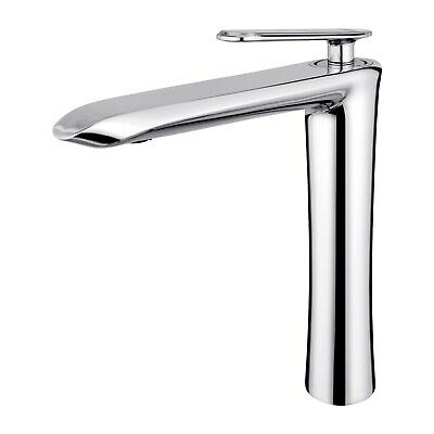 Tall Bathroom Single Handle Chrome Vessel Sink Faucet Solid Brass Bowl Mixer Tap