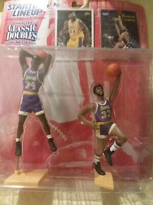 buy online 509c3 7b812 1997 Starting Lineup Classic Double Shaquille O neal Kareem Abdul-Jabbar  Sealed