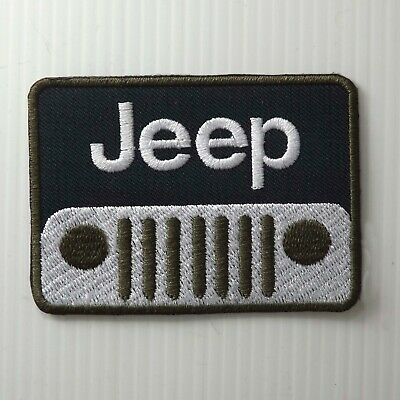"""3.00""""x1P. Jeep Face Army Motor Black Embroidered Iron On Patch Cap Shirt Apparel"""