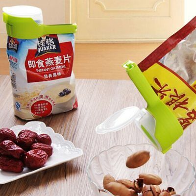 Pour Food Storage Bag Clip Snack Sealing Clip Clamp Cover Fresh Keeping Sealer L