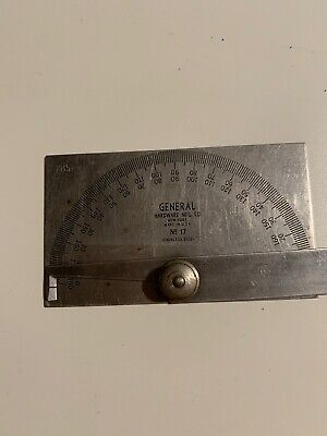 Antique General Hardware MFG. Co. NY. 180 Degree Protractor Angle Finder, No. 17