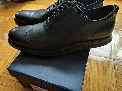 fcdfff744 COLE HAAN MEN S Zerogrand Wing Ox Leather Oxford - Black size 15 M ...