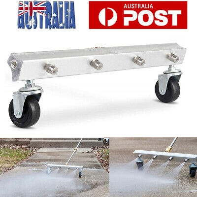 4000 PSI High Pressure Water Broom Power Washer Cleaner Driveway Sidewalk AU