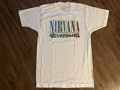 a93deea4a VINTAGE NIRVANA T -Shirt 90's Nevermind Parking Lot Tee Size Medium ...