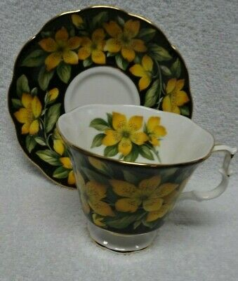 Royal Albert Bouquet Series Flowers  Cup and Saucer Rose of Sharon