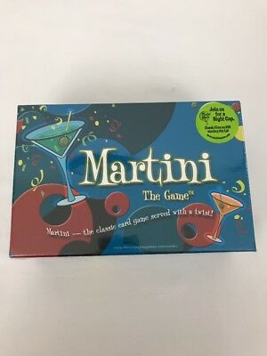 Martini The Game Adult Party Card Game 2+ Players NEW Sealed in Box Age 18+