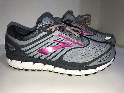 ef2ae97422570 Brooks 120271D091 Womens Ariel 18 Running Shoes Gray Pink Size 12 D Wide