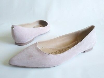 ced15914d61ec SAM EDELMAN RAE Pointed Toe Ballerina Flats Rose Pink Suede Womens Size 6.5