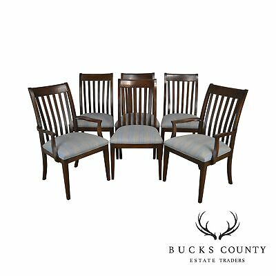 Ethan Allen Impressions Set 6 Cherry Dining Chairs