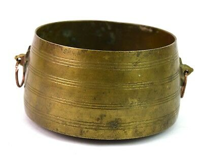 Vintage Old Brass Bowl Indian Nice Collectible Kitchenware / Pet Bowl. G7-810 AU