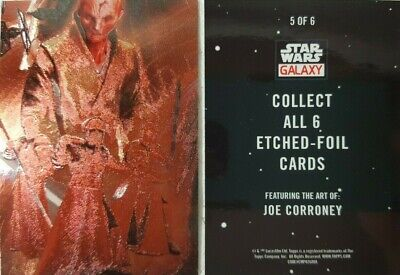 2018 Topps Star Wars Galaxy ETCHED FOIL PUZZLE CARD 5 of 6  Supreme Leader Snoke