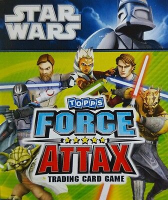 STAR WARS : FORCE ATTAX Trading Card Base Set of 192 SERIES 2  UK   CLONE WARS