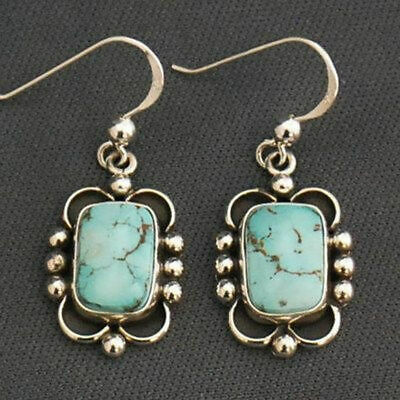 Womens Vintage Turquoise Earring Drop Dangle Copper Retro Punk Bohemia Jewelry