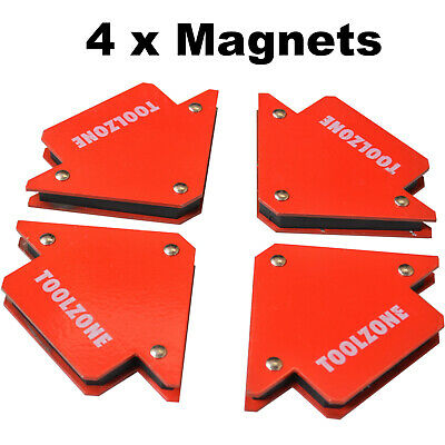 4 x Powerful 25lb Magnetic Welding Holders 3 angle