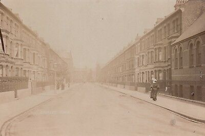 London Real Photo. Croxley Road, Maida Vale, City of Westminster. Mailed 1907