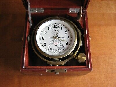 ANTIQUE RUSSIAN MARINE CHRONOMETER 6MX, in working state.