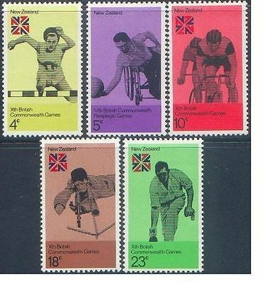 New Zealand 1974 COMMONWEALTH GAMES (5) Unhinged Mint SG 1041-5