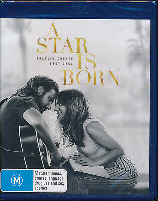 A Star Is Born Blu-ray NEW Region B Lady Gaga Bradley Cooper