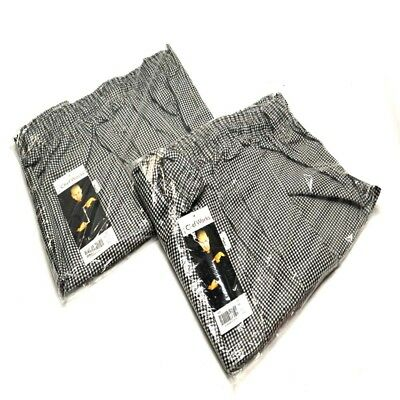 "(2) NEW Chef Works NBCP ""4XL"" Checkered Baggy Designer chef Pants ""4XL"""