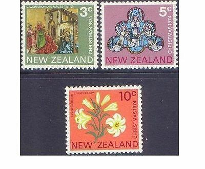 New Zealand 1974 CHRISTMAS (3) Unhinged Mint SG 1058-60