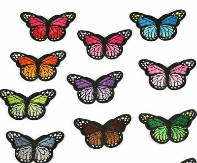 Butterfly Embroidered  Fabric Iron On Applique Patch Badge