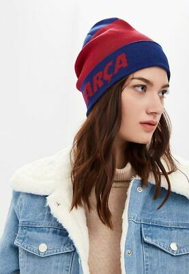 Nike FC Barcelona Beanie Winter Hat Cap (Royal Blue w Removable Pom) One  Size 6ced344c9768