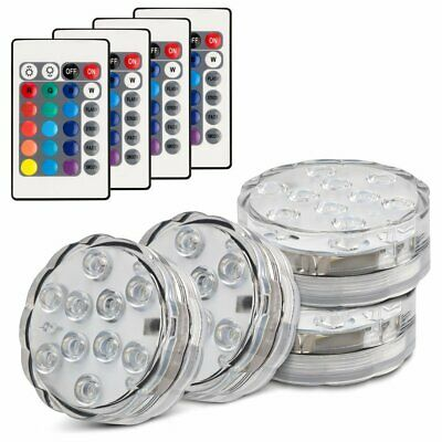 10LED RGB Submersible Swimming Pool Hot Tub SPA Led Lamp IR Remote Pond Light UK