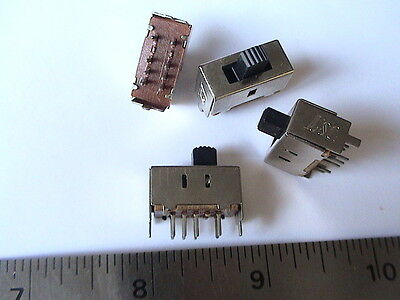 15pcs DP3T PCB mount 8-pin 3 Positions Slide switches # 2.5T23P12G5  (802-024)