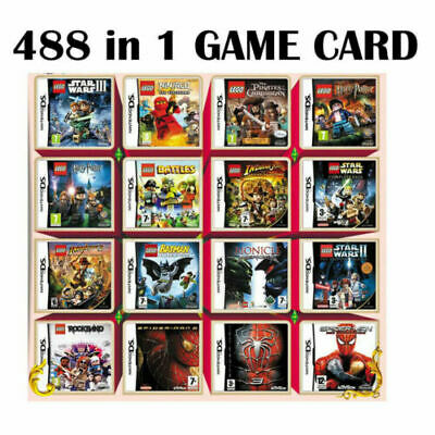 488 In 1 Video Game Cartridge Console Card For Nintendo NDS NDSL 2DS 3DS NDSI
