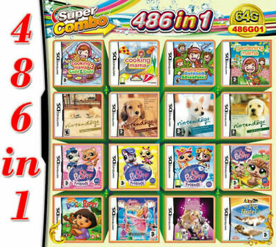 486 In 1 Video Game Cartridge Console Card For Nintendo NDS NDSL 2DS 3DS NDSI
