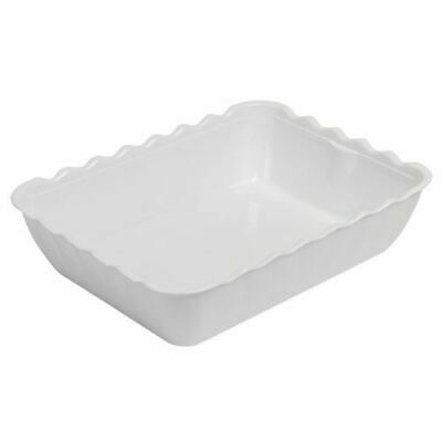 Kristallon Large White Salad Crock Perfect for Hot or Cold Food - Plastic 4.25L