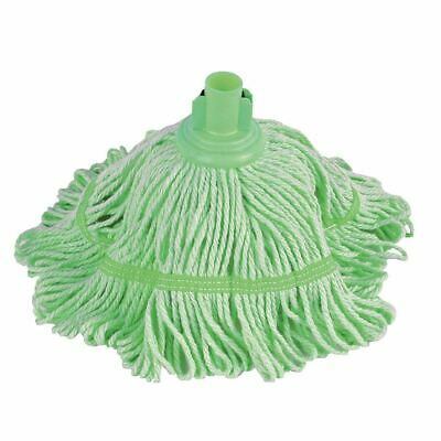 Jantex Bio Fresh Socket Mop Green Cotton Broom Cleaning Dust Brush Commercial