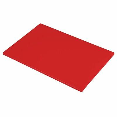 Hygiplas Standard Low Density Red Chopping Board for Raw Meat - 450x300mm