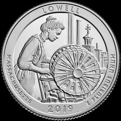 "2019 P Lowell National Park Quarter Massachusetts ""Brilliant Uncirculated"""