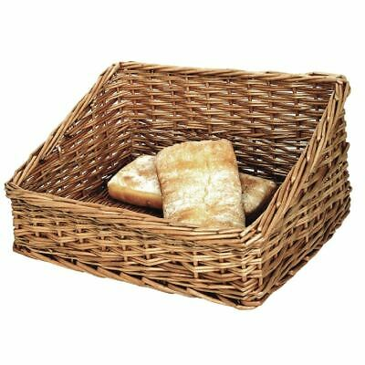 Olympia Bread Display Basket in Rustic Wooden Colour 200x510x390mm