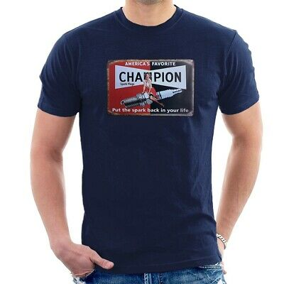 CHAMPION SPARKS PIN UP T-SHIRT Classic Vintage Cafe Racer ALL SIZES M57