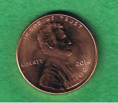 2014-D Lincoln Shield One Cent Penny Coin AU Condition
