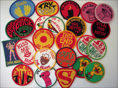Vintage 80's Embroidered Patch Funny Humor Sex Trucker Biker Jacket Retro Laugh