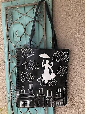"""Disney MARY POPPINS """"Practically Perfect In Every Way"""" Tote Bag purse DISNEYLAND"""