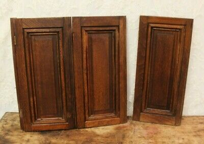 "3 Antique Salvaged Walnut Shutters ~ Repurpose Projects!! Each 8 3/4"" X 19"""
